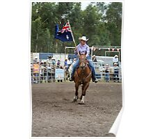 Picton Rodeo 1 Aust Flag Poster