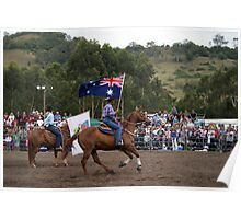 Picton Rodeo 2 Aust Flag Poster
