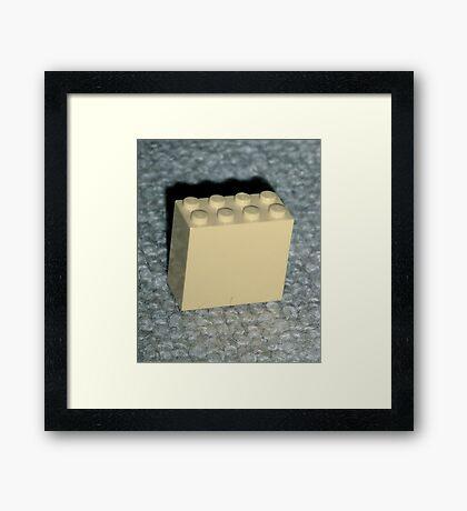 The Faded Lego Brick Framed Print