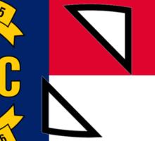 NC Flag UNC Logo Sticker