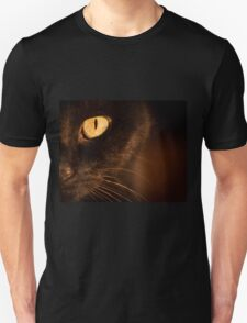 Portrait black cat Unisex T-Shirt