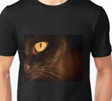 Portrait black cat Unisex T-Shirt