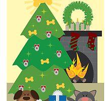 .:Pup n Kitteh Christmas:. by Purpleoctopussy