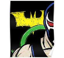 Bane With Batman Logo Poster