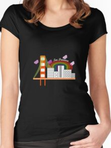 Hey San Fran Women's Fitted Scoop T-Shirt