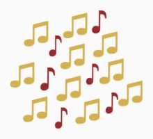 Yellow music notes by Designzz