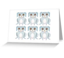 6 Lanky Dogs Greeting Card