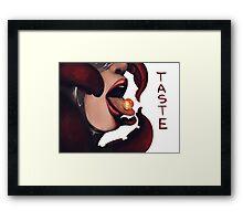 Tongue and Cheek Framed Print