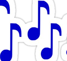 Blue music notes Sticker