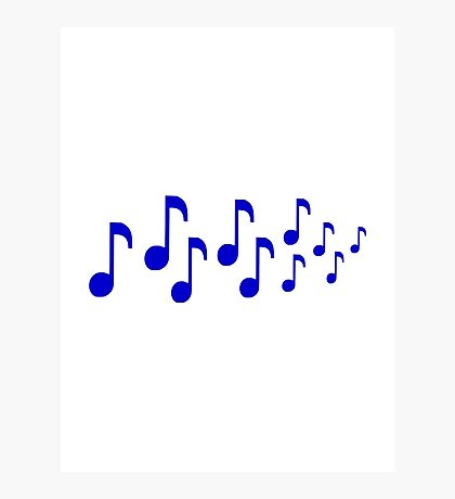 Blue music notes Photographic Print