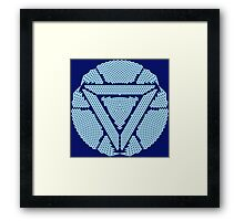 Celtic Ironman Arc Reactor Mk2 White with Blue fill Framed Print