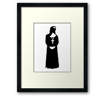 Nun woman Framed Print