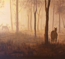 Horses in the Mist by Wendy Sinclair