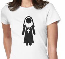 Nun cross Womens Fitted T-Shirt
