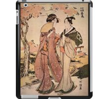 'Two Women' by Katsushika Hokusai (Reproduction) iPad Case/Skin