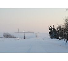 Snowy Country Roads Photographic Print