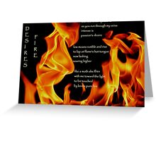 Desire's Fire Greeting Card