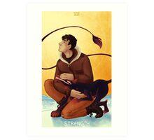 Toothy Tarot: Donovan (Strength) Art Print