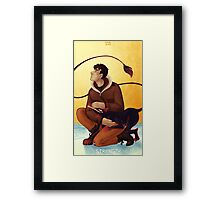 Toothy Tarot: Donovan (Strength) Framed Print