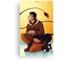 Toothy Tarot: Donovan (Strength) Canvas Print