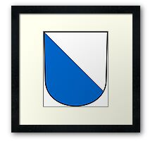 Coat of Arms of Zurich Canton Framed Print