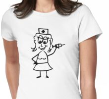 Comic nurse Womens Fitted T-Shirt