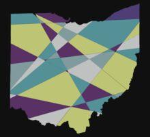Geometric Ohio  Kids Tee