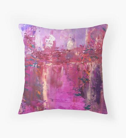 A Study in Pink Throw Pillow