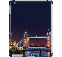 HMS Belfast And Tower Bridge at Night, London, England iPad Case/Skin