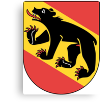 Coat of Arms of Bern Canton Canvas Print