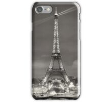 Eiffel Tower B&W iPhone Case/Skin