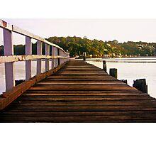 A Long Walk...: Como Marina Pier 4 January 2009 Photographic Print