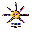 Sun mask from the Northwest Mask series by richardredhawk
