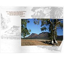 Caznoux Tree and Wilpena Pound Poster