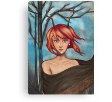 Horn Girl Canvas Print