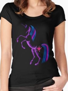 MLP Twilight Sparkle Minimal Abstract Drawing Women's Fitted Scoop T-Shirt