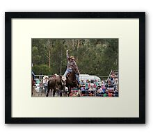 Picton Rodeo Tag Framed Print