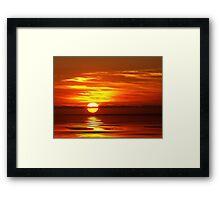 """Simply Sunrise"" Framed Print"