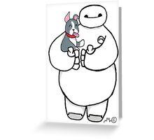 Baymax and Winston Greeting Card