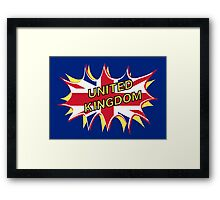 United Kingdom KAPOW Framed Print
