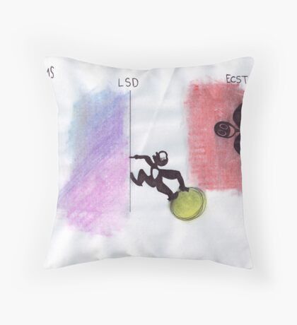 Psychedelic Perspective Throw Pillow