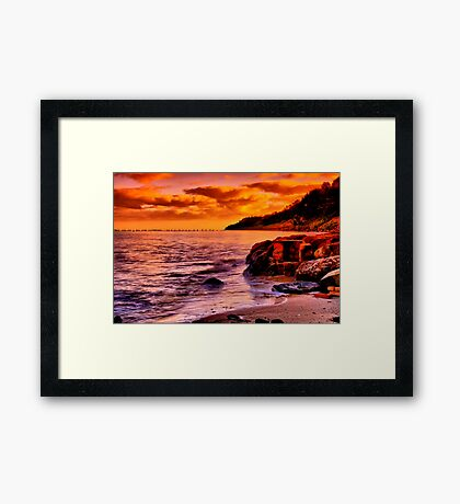 """Remnants of a Relaxing, Refreshing Pastime"" Framed Print"