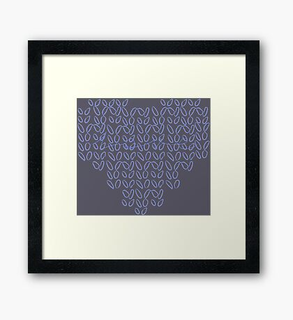 Knitting Knit Love Heart Framed Print