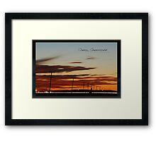 Oakey Traffic Dusk © Vicki Ferrari Framed Print