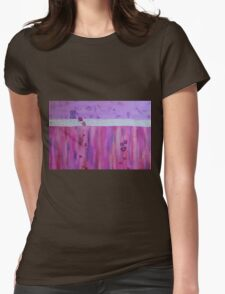 Pink Glow Womens Fitted T-Shirt