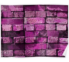 BRICK BY BRICK-PURPLE Poster