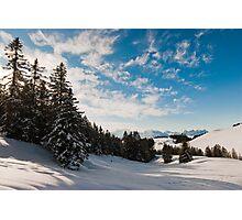 Winter panorama above Amden Photographic Print