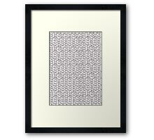 Knitting Knit Pattern - Doodle Ink Black and White Framed Print