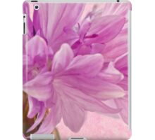 Pink Batchelor's Button Macro iPad Case/Skin