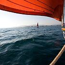 Sailing to anchor by Angus Beare
